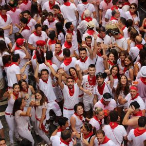 Running of the Bulls Pamplona crowd