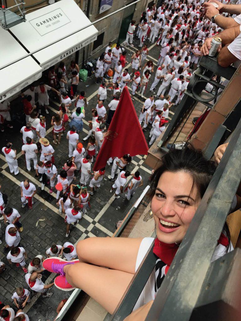 Running of the Bulls Pamplona balcony view