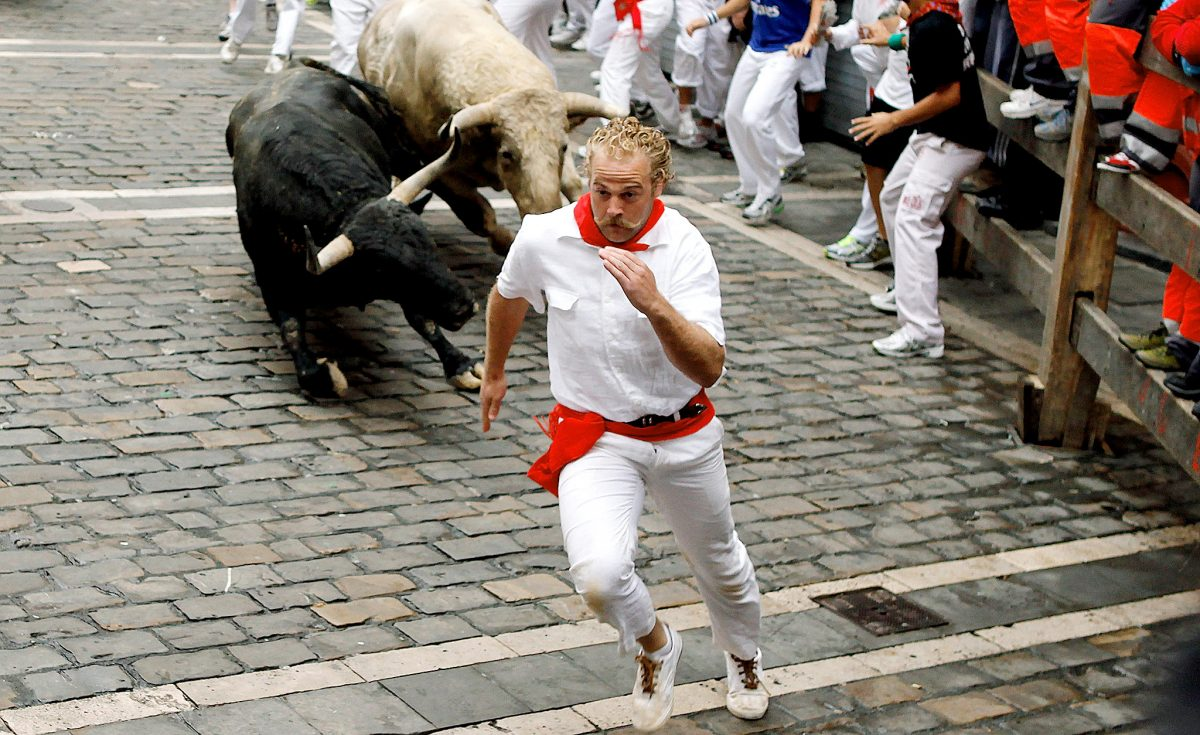 Image result for Running of the bulls