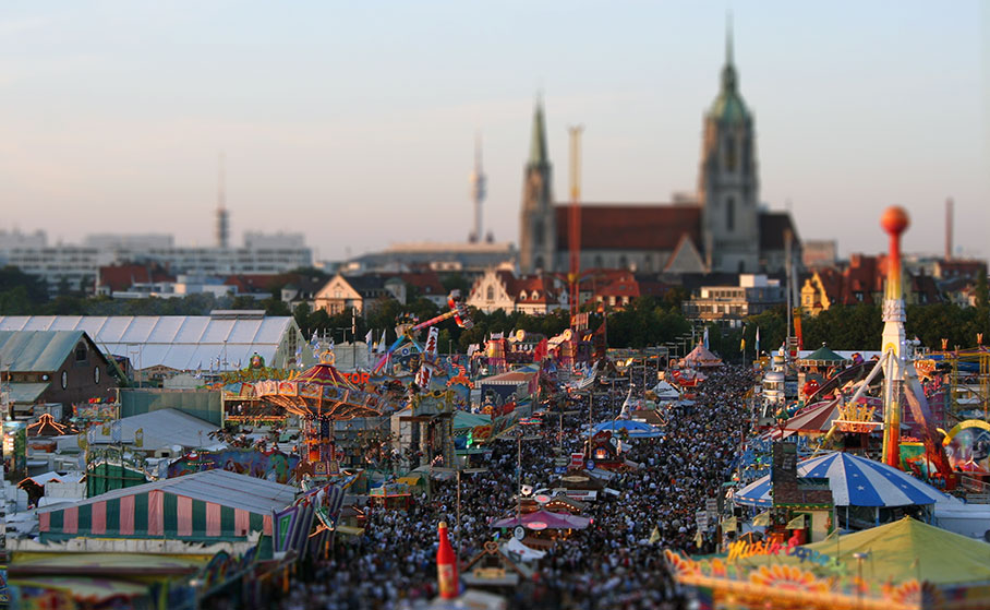 Oktoberfest Fair in Munich Germany