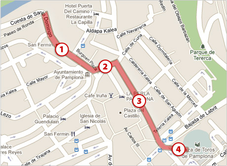 Running of the Bulls Course Guide