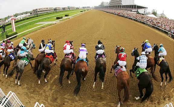 Kentucky Derby Starting Line