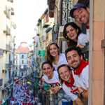 Pamplona Spain Running of the Bulls Balcony