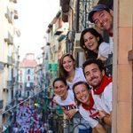 Pamplona Spain Running of the Bulls Balcony