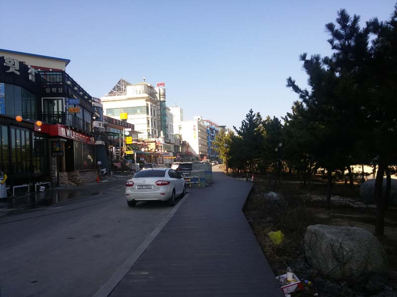 Gangneung Boardwalk shops