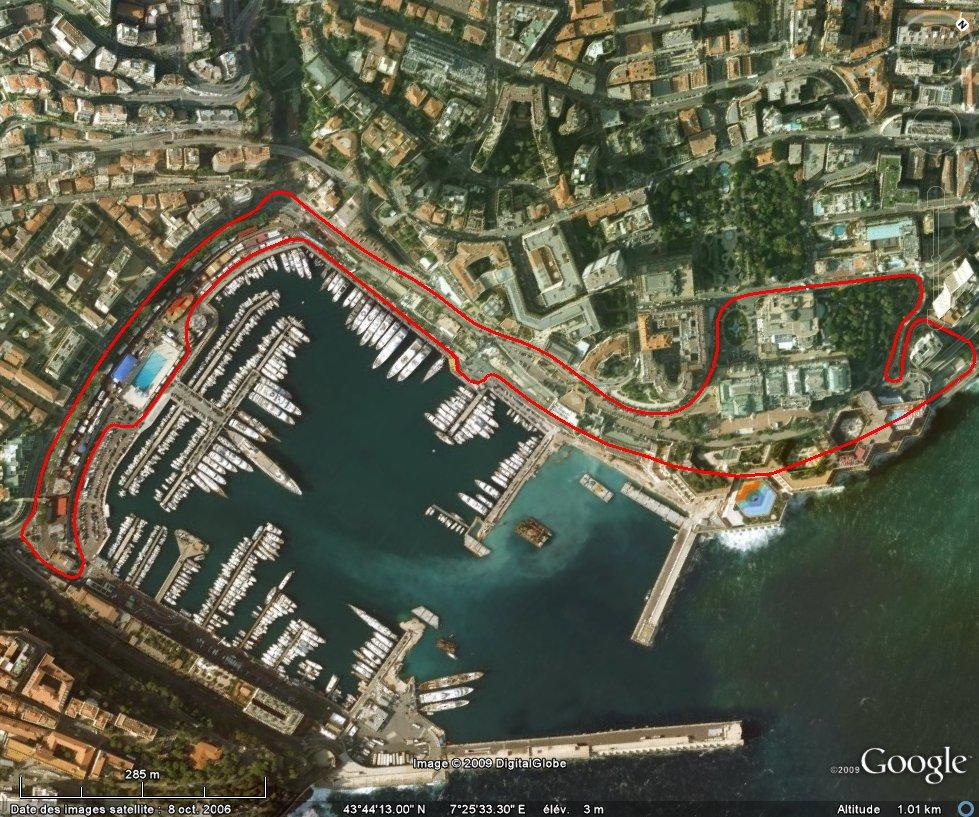 Monaco F1 Track Course Map