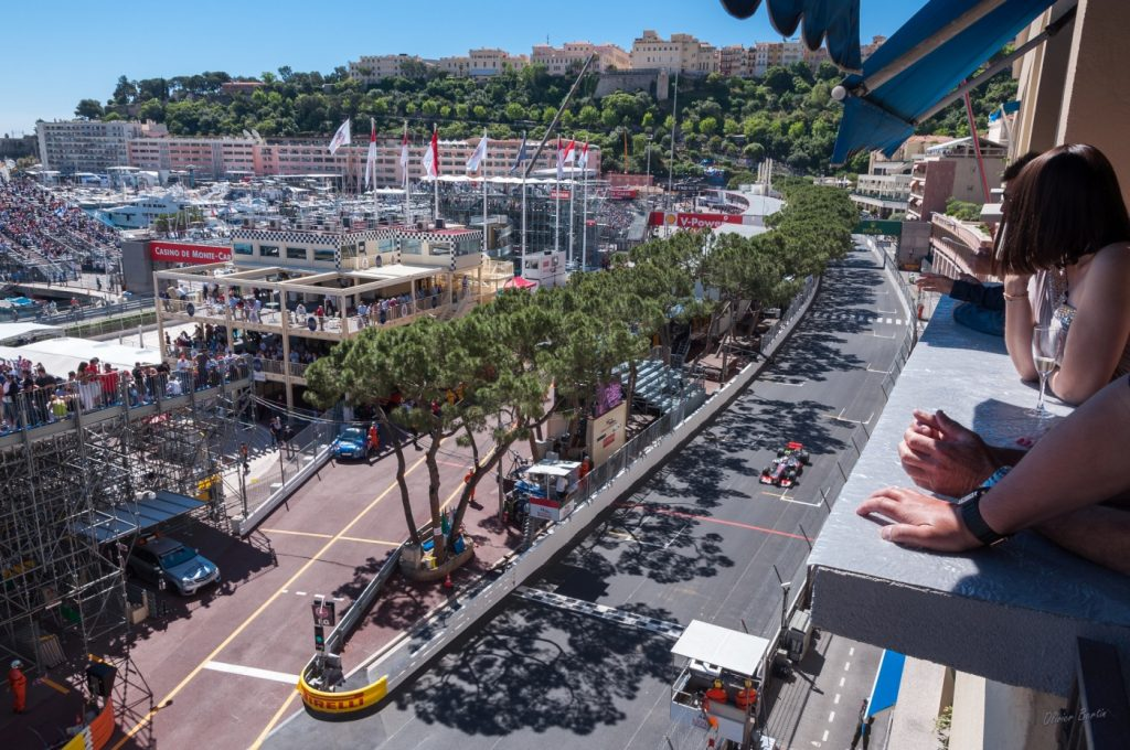 Balcony views at Monaco Grand Prix