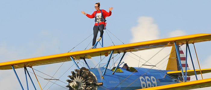 Wing Walking Crazy bucket list ideas