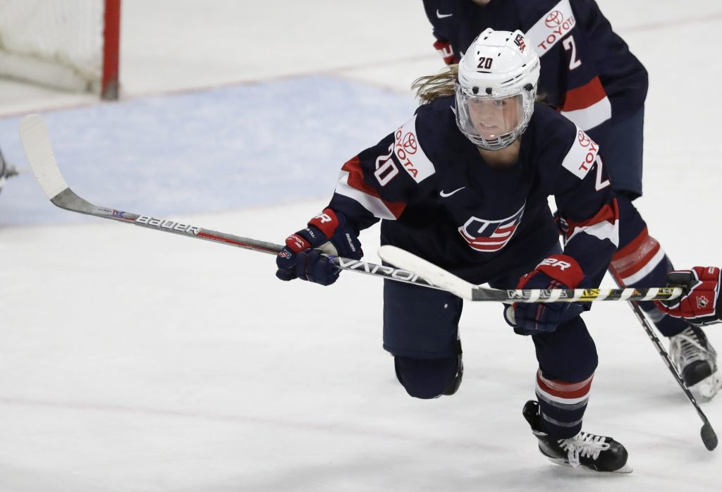 hannah brandt us women's national hockey