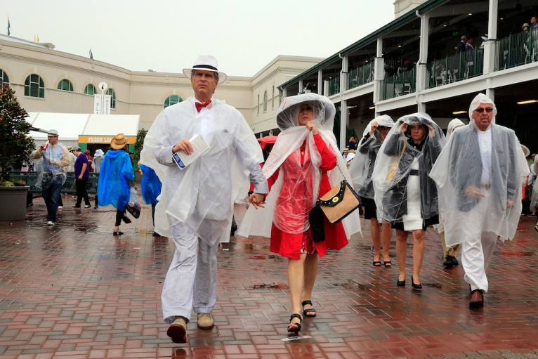 rain at kentucky derby