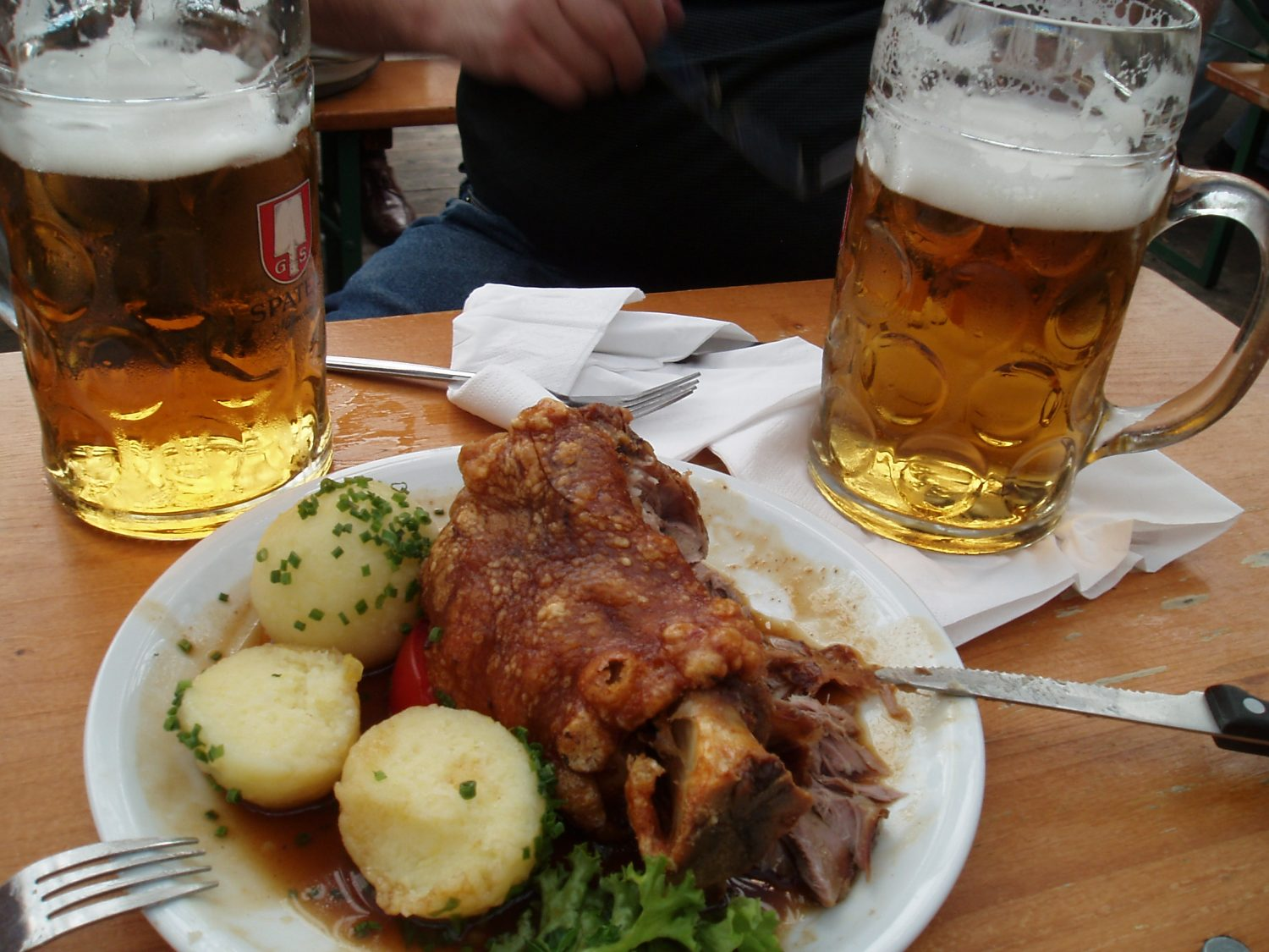 The Food served at Oktoberfest