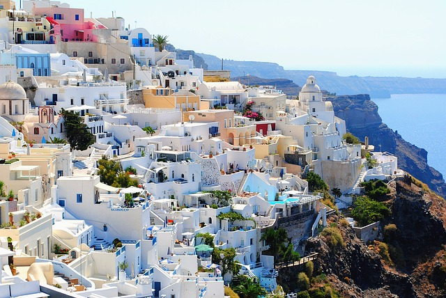 october vacation ideas santorini