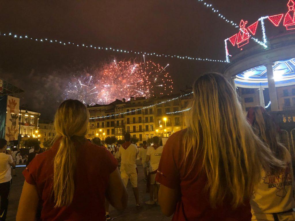 Fireworks at the San Fermin Festival